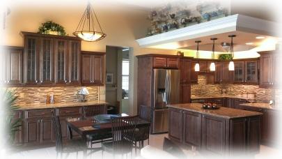 feathered kitchen